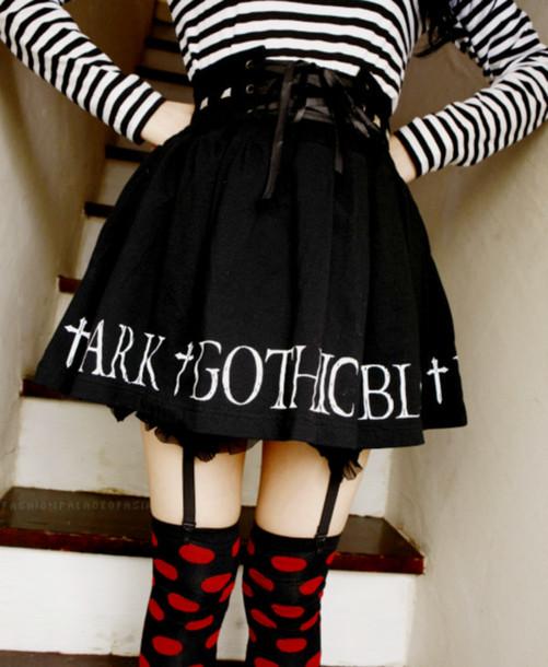 Black Goth Skirt 90