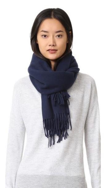 cozy scarf navy