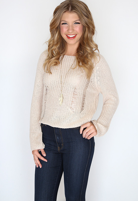 Honor Knit Sweater - Tan