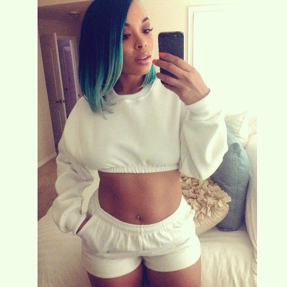 grey jogging tank top grey sweatshirt cropped sweater cropped top tracksuit plain simple swag dope celebrity shorts