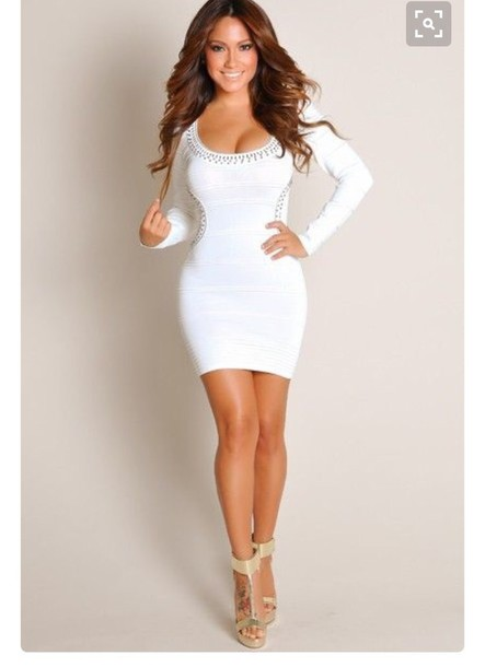 Dress Dreses White Christmas Kardashians New