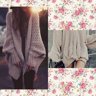 blouse knitwear jumper cream sweater cardigan vintage jumper cream sweater oversized sweater