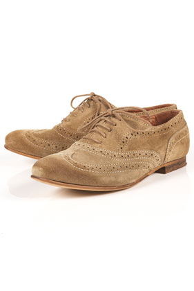 Kamille beige suede lace up brogues