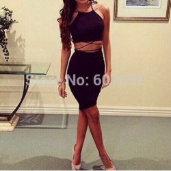 Online shop free shipping 2014 lovegirl sexy back cross tops and bottoms two pcs dress ft1417