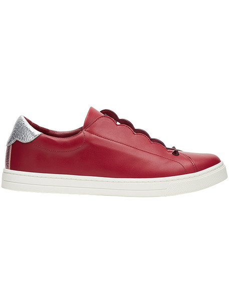 Fendi women spandex sneakers leather red shoes
