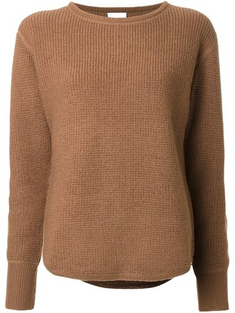jumper women wool brown sweater