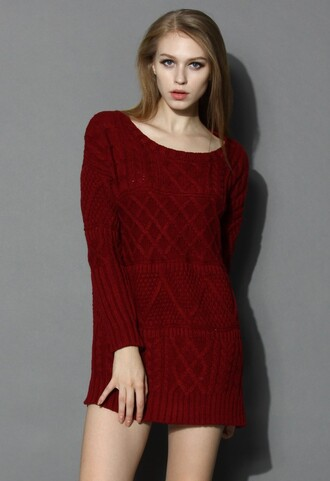 dress winter dress knitted