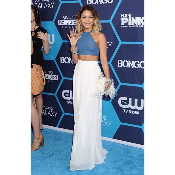 skirt vanessa hudgens hudgens maxi skirt pale boho style long skirt white maxi skirt maxi girl bag