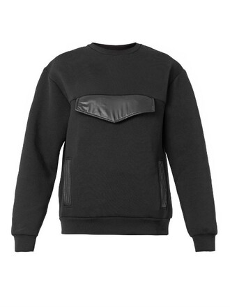 sweatshirt oversized neoprene black sweater