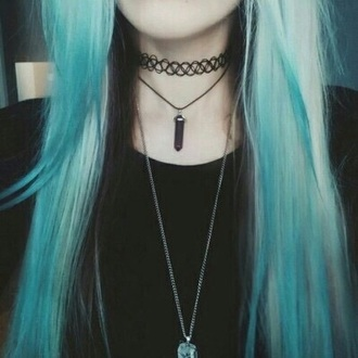 jewels jewel choker necklace dark goth indie hipster