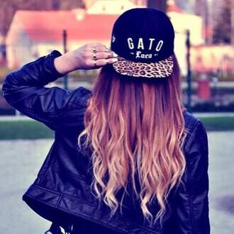 hat cap vato leopard print black