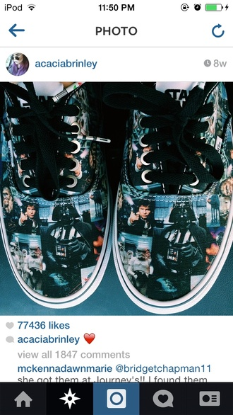 shoes vans acaciabrinley grunge shoes printed vans star wars