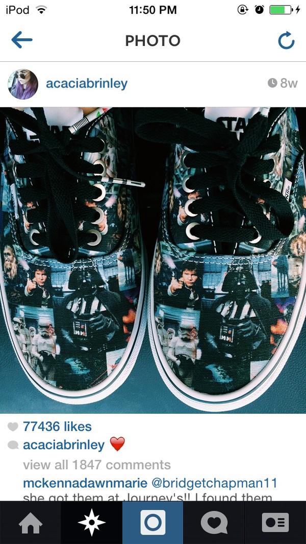 shoes star wars vans acacia brinley grunge shoes printed vans star wars