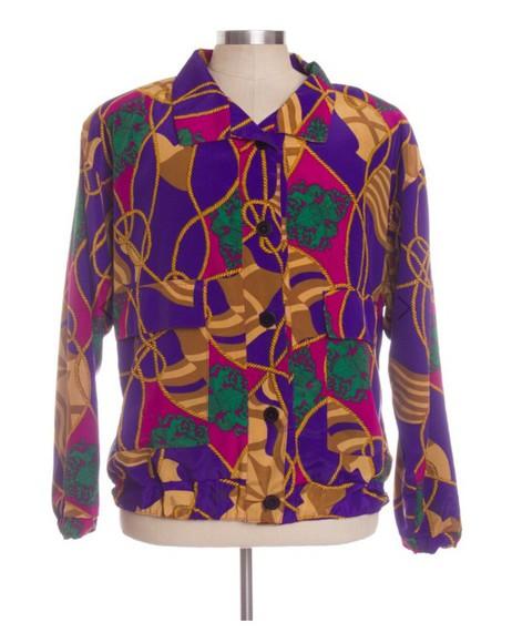 90s colorful jacket stylish