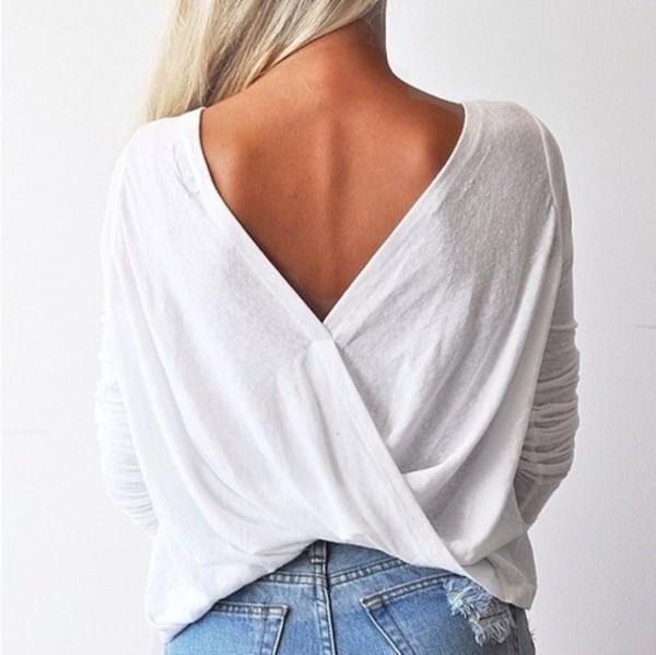 sweater v back
