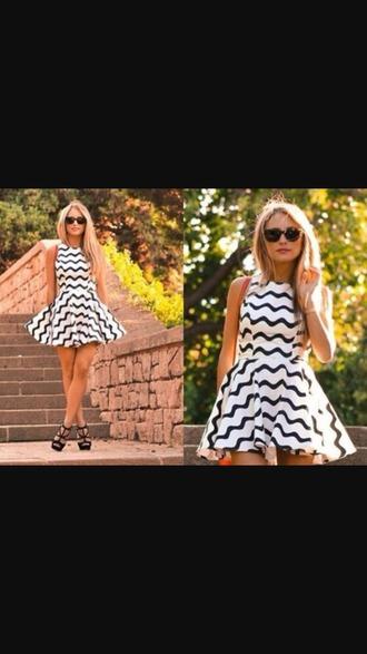 dress striped dress blackandwhitedress
