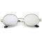 Retro 1990's fashion oval mirrored flat lens sunglasses c137