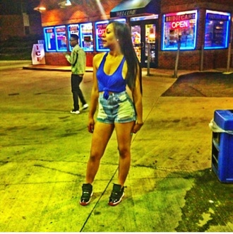top blue top air jordan 11 cute top crop too high waisted shorts