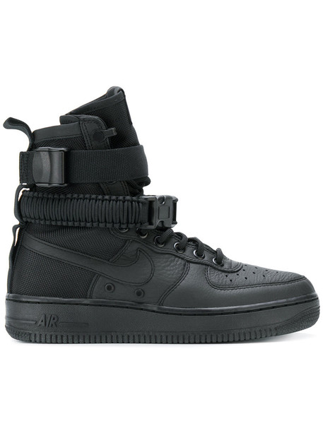 Nike boot women sneakers leather black shoes