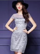 dress,ezpopsy,lace,coupons,silver dress,party dress,lace dress