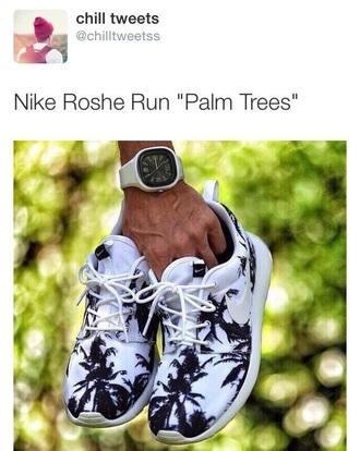 palm tree print roshe runs nike running shoes