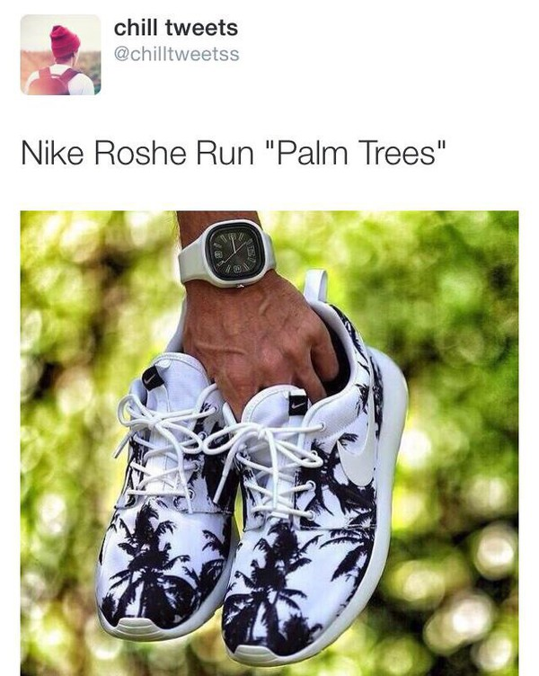 palm tree print palm tree print roshe runs nike running shoes