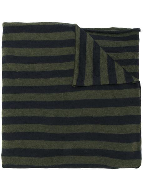 faliero sarti women mohair scarf striped scarf green