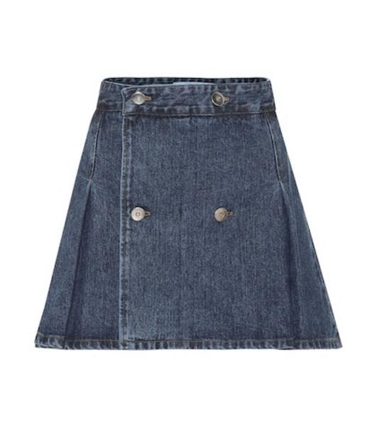 Matthew Adams Dolan Denim miniskirt in blue