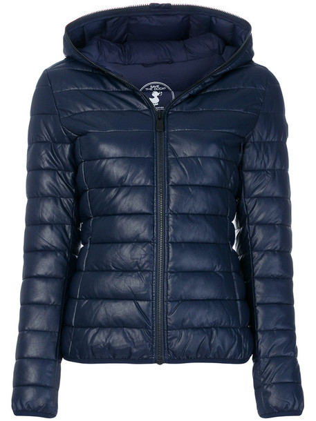 Save The Duck jacket puffer jacket women blue