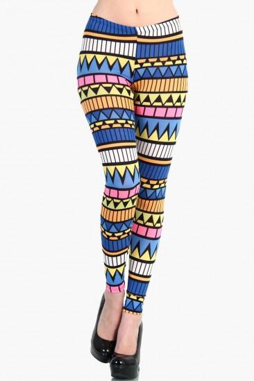 OMG Colorful Aztec Leggings