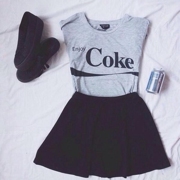 grey t-shirt coca cola shirt