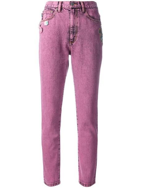 Marc Jacobs jeans women cotton purple pink