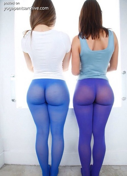 Pants: tights, blue, purple, yoga pants, leggings, sheer - Wheretoget