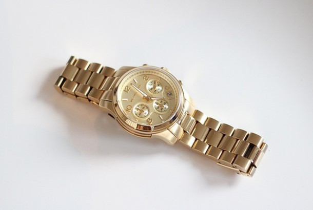 nail accessories clock gold michael kors