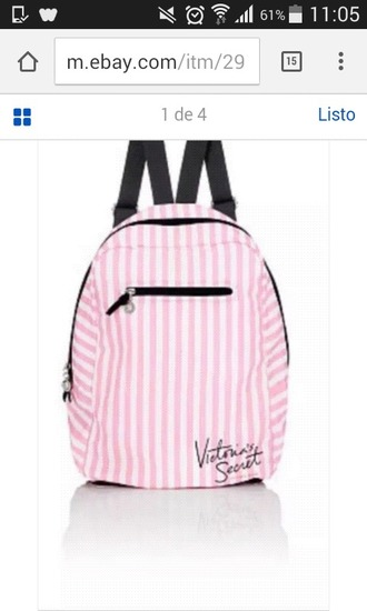 bag backpack pink by victorias secret pink pink backpack victoria's secret cute girly girl hot teenagers