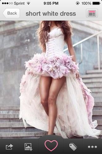 dress prom dress pink high low