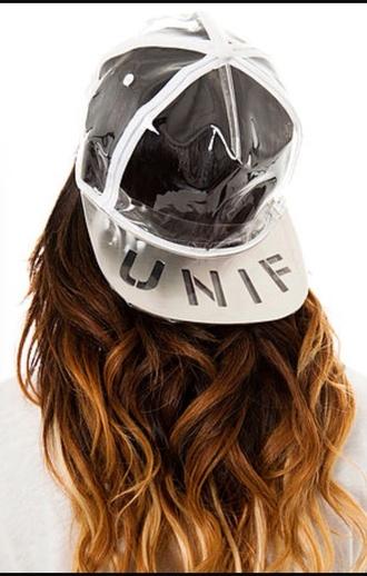 hat transparent vapor cap unif