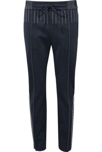 Valentino pants embroidered navy