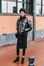 jacket,bomber jacket,puffer jacket,black jacket,black leggings,black boots,boots,ankle boots,leggings