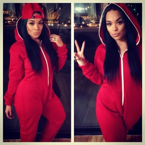 dress red hat snapback onesie dope trill last king last kings sosorella heather sanders heather bomb night clothes pajamas comfy sweater onesie jumpsuit style red jumper