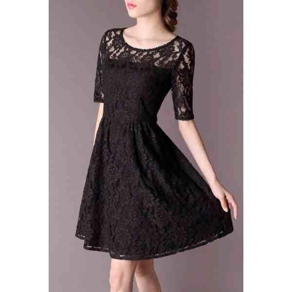 lace. short dress