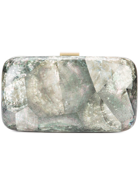 Kayu iridescent clutch women Shell One Size, Grey