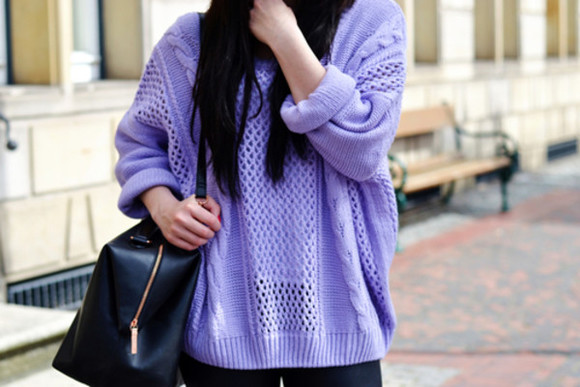 holes sweater knitting knitting sweater purple purple sweater lilac sweater pastel sweater