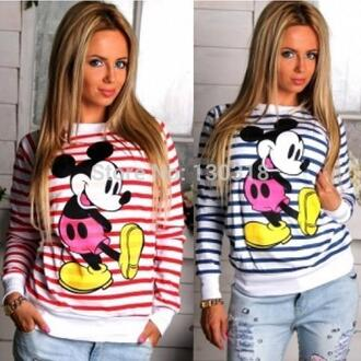 sweater stripes mickey mouse disney