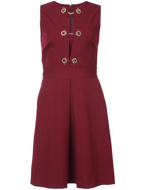 DEREK LAM 10 CROSBY dress sleeveless dress sleeveless women spandex cotton red