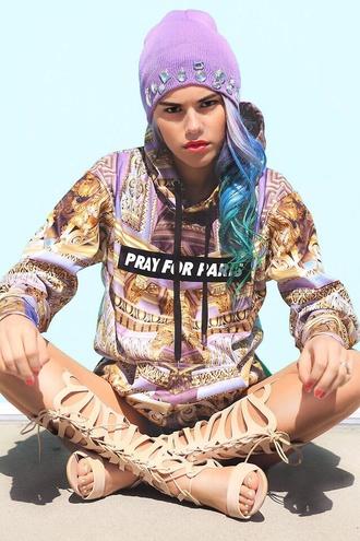 sweater shoes pray for paris paris tumblr outfit