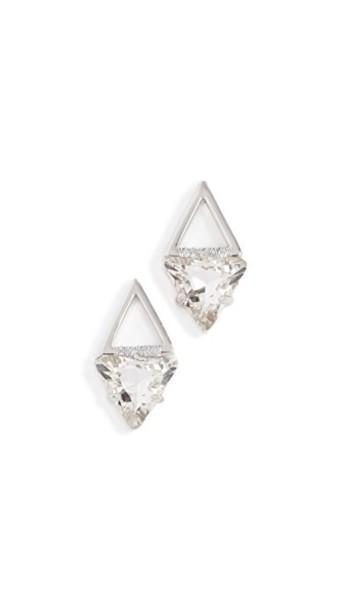 Rebecca Minkoff geometric earrings stud earrings silver jewels