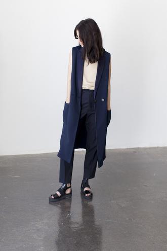 india rose blogger tank top shoes jacket pants finery london streetwear navy