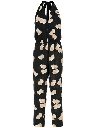 jumpsuit women print black