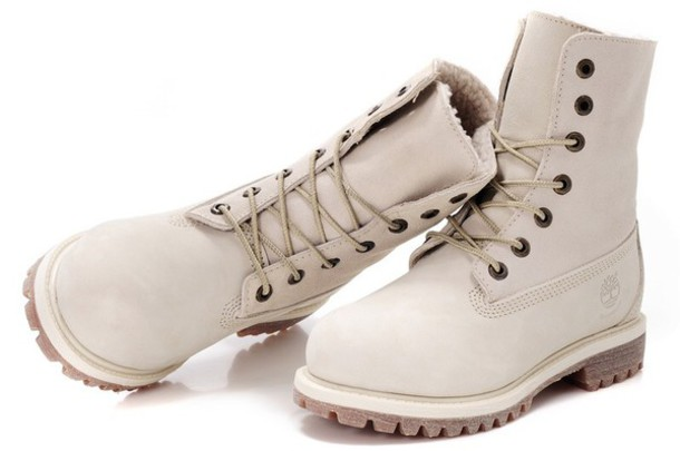 shoes boots white cream timberland boots shoes timberlands boots style cute shoes warm cold weather shoes